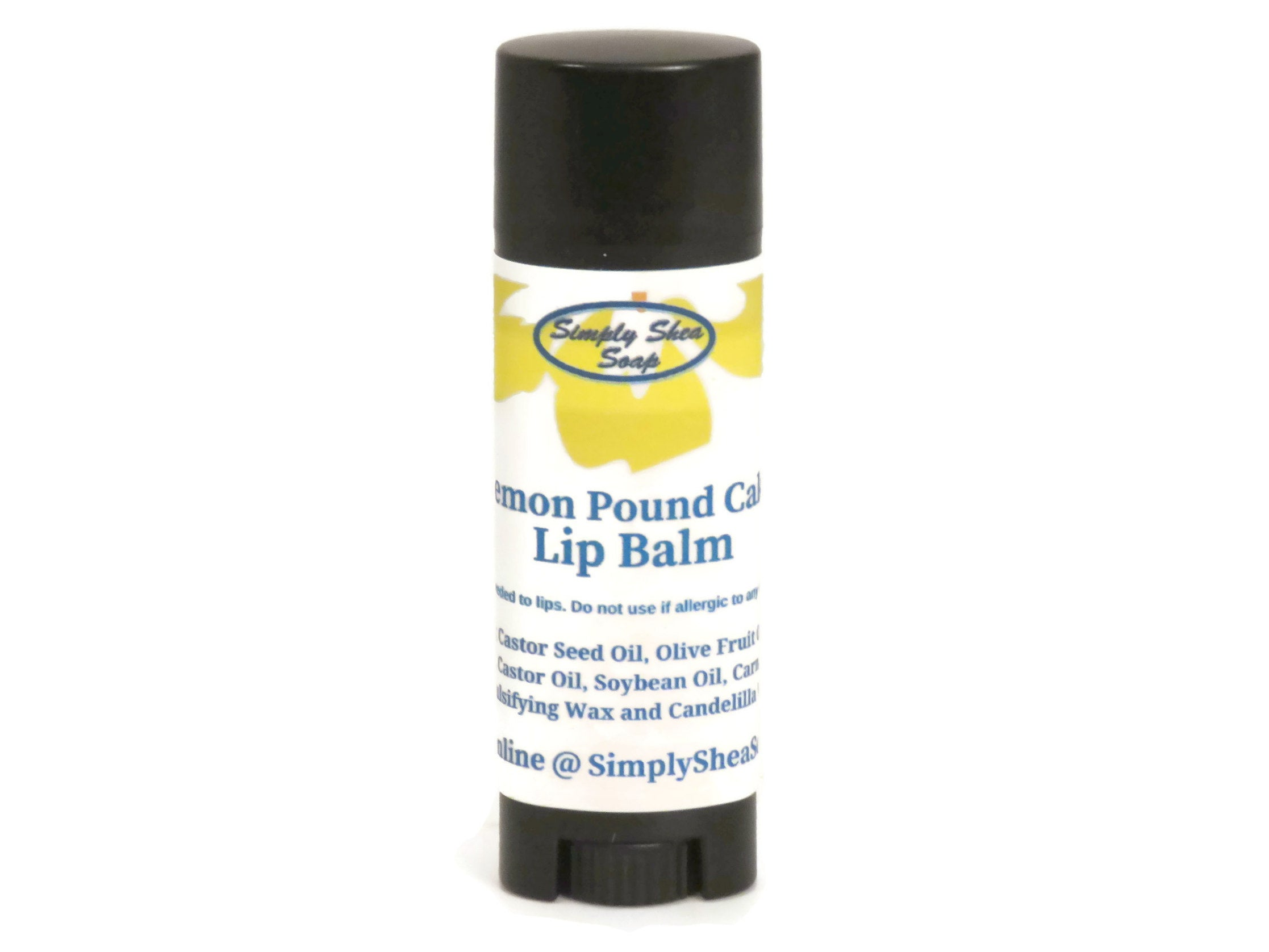 Lemon Pound Cake Lip balm with Organic Argan Oil