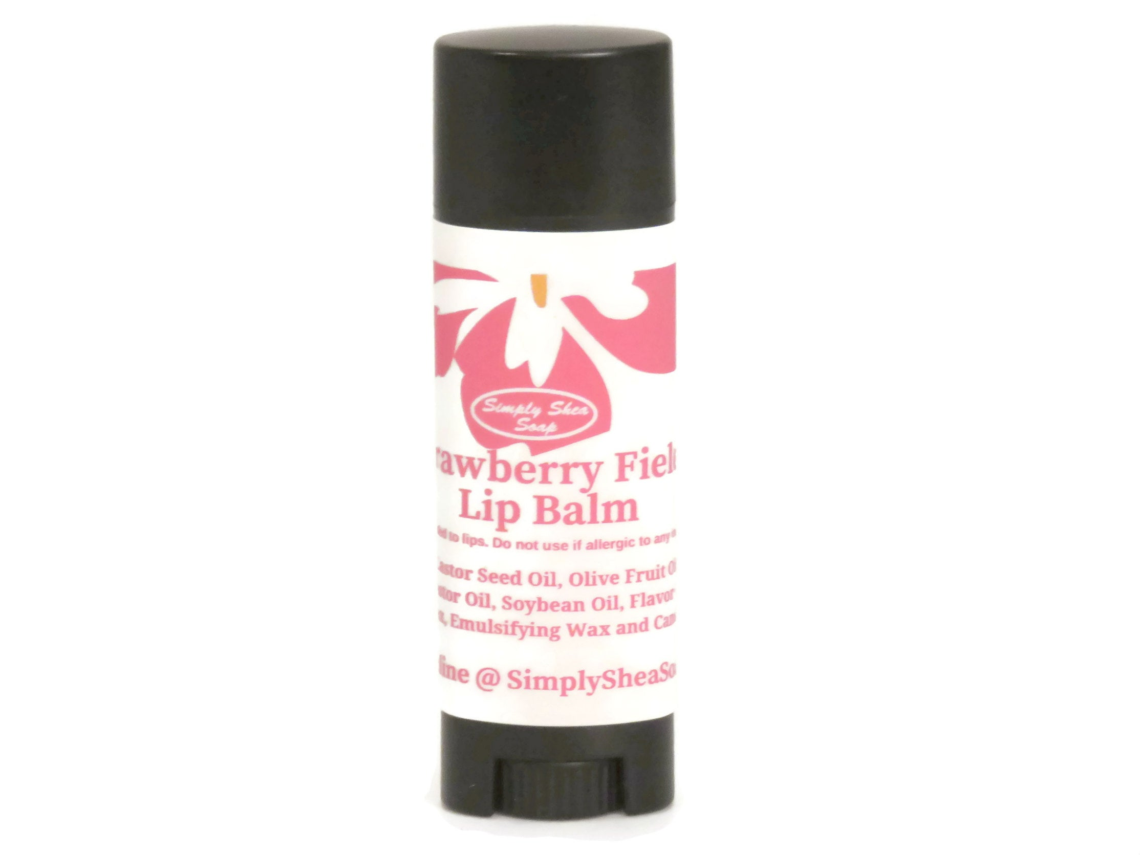 Strawberry Fields Lip balm with Organic Argan Oil