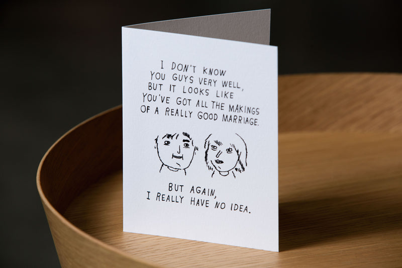 Really Good Marriage Card