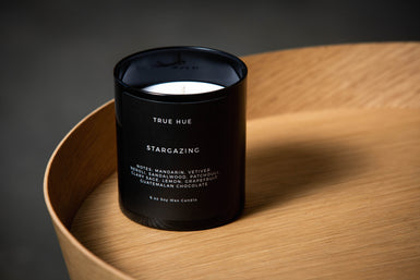 Candle Stargazing Black Glass