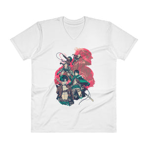 Attack On Titan V-Neck T-Shirt
