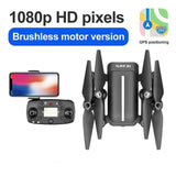 5.8G Remote Control Brushless Quadcopter GPS Surround Folding Drone with 5G Picture Transmission Wide Angle 1080P Camera for S3