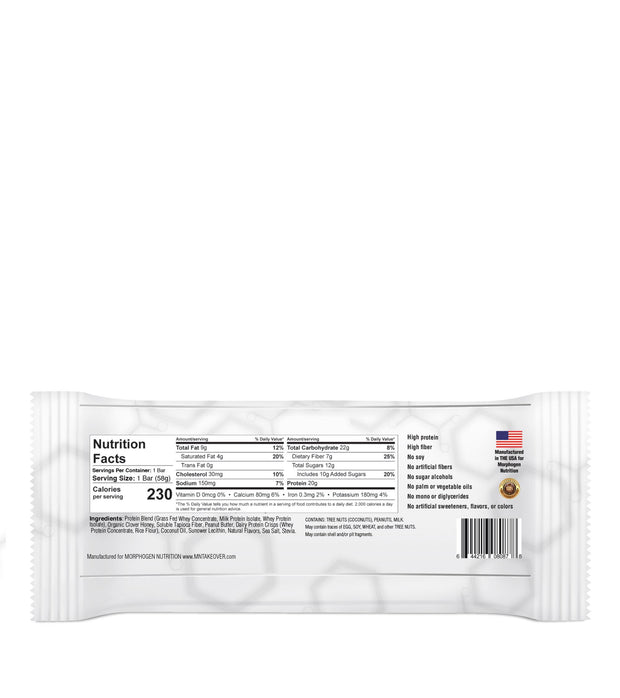 MorphoBAR - Whole Food Nutrition Bar (16 count box)