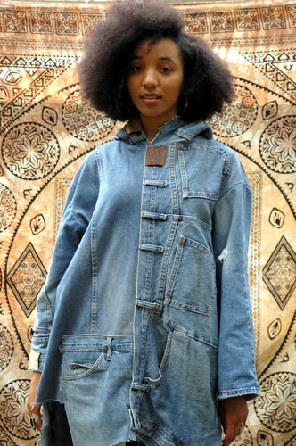 Loopy Denim Collage Jacket