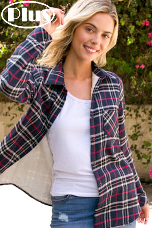 Warm Flannel Shirt - fleece lined