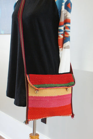Stripe button Purse