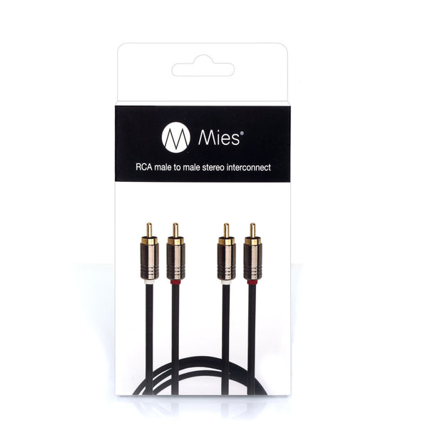 Mies RCA - RCA Stereo Interconnect Cable (1m)