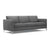 Charcoal grey modern fabric sofa