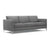 Pewter grey modern fabric sofa