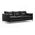Black modern leather sofa