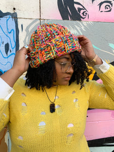 Stitch'D Factory x TNTP  . . . Beginner Crochet Beanie Pattern