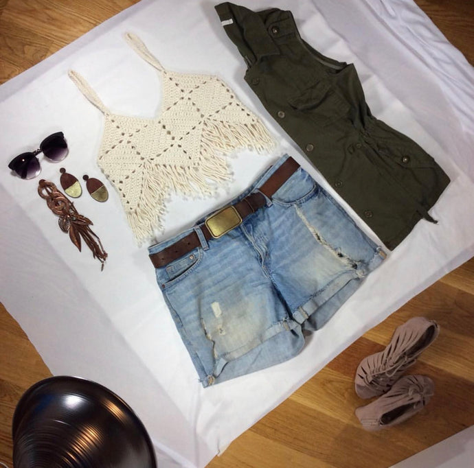The Honey Fringe Crop Top