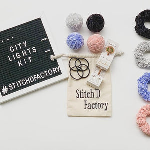 City lights scrunchie kit