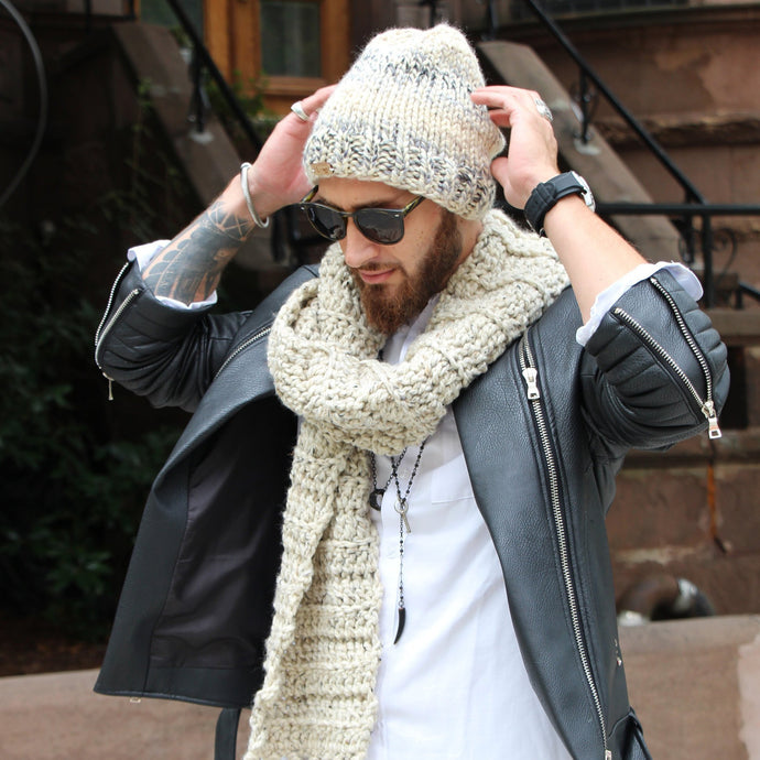 uptown meets downtown beanie & scarf set