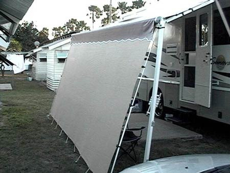 Custom RV Privacy Sunscreen | RV Shade Shack