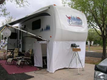 Custom Rv Fifth Wheel Skirts Rv Shade Shack