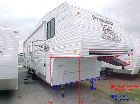 Custom RV Fifth Wheel Skirts | RV Shade Shack