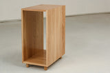 Open oak cabinet, part of desk set