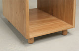 Oak cabinet detail, part of desk set