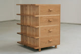 Small oak drawer unit, part of desk set