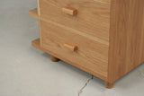 Oak drawer unit, detail