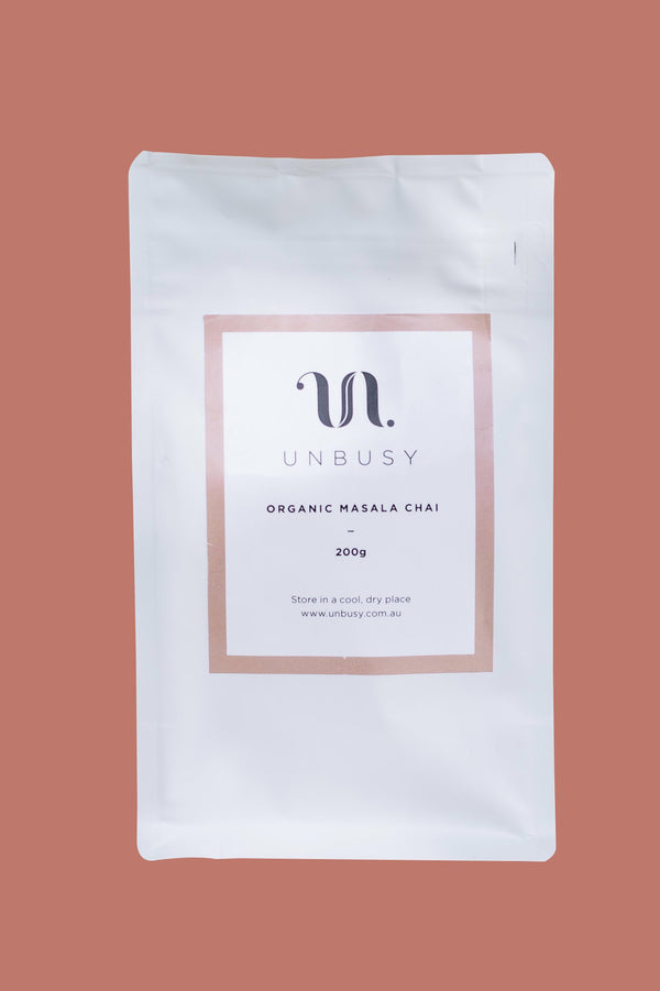 ORGANIC STICKY MASALA CHAI FOR RETAIL - UNBUSY TEA