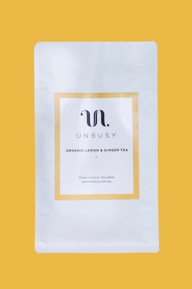 ORGANIC LEMON & GINGER - UNBUSY TEA