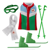 Claus Couture Collection® Alpine Ski Set: Vest, Scarf, Skis, Poles and Goggles