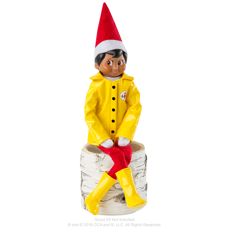 Claus Couture Collection® Caroling in the Raincoat: On Scout Elf