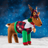 Claus Couture Collection® Playful Reindeer PJ's: Lifestyle Shot