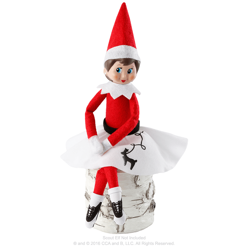 Claus Couture Collection® Rockin' Reindeer Skirt: Outfit on Scout Elf