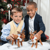 Kids playing with the Elf Pets: A Reindeer Tradition