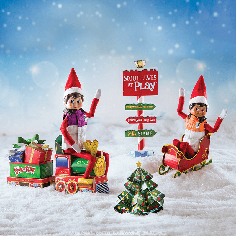 scout elves at play paper crafts santa s store the elf on the shelf