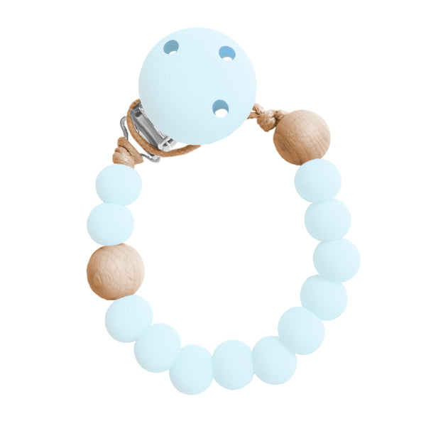 Soother Holder Clip / Dummie Chain -IceBlue