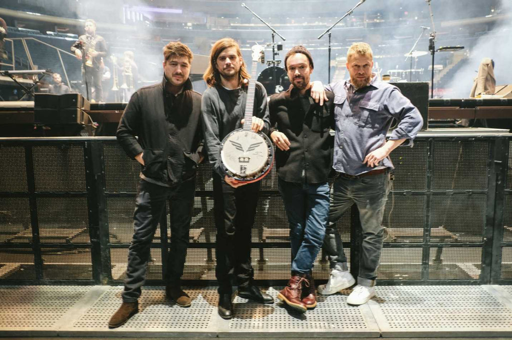 Mumford & Sons with the Canada Charity Goodtime Banjo