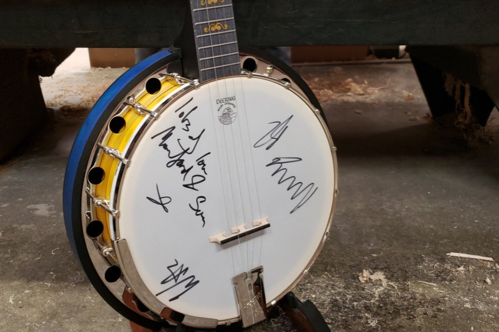 Signed Mumford & Sons Charity Banjo