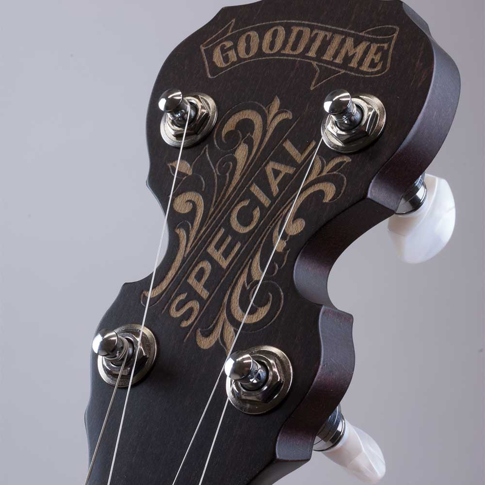 Artisan Goodtime Special Banjo - peghead front close