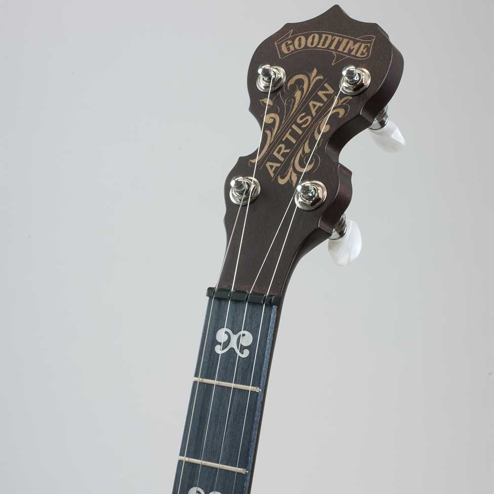 Deering Artisan Goodtime Two banjo - neck 1