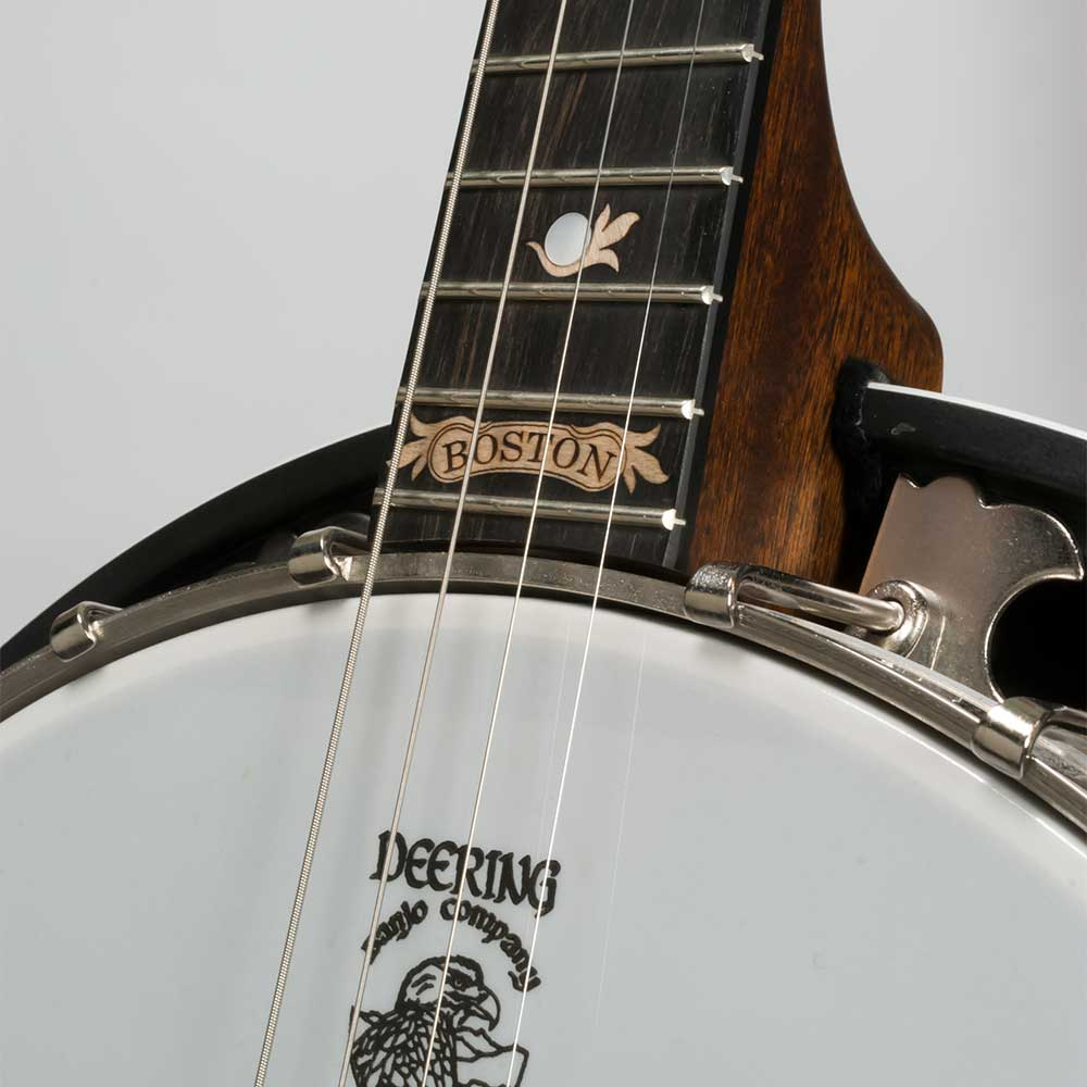 Deering Boston 17-Fret Tenor Banjo - neck joint front
