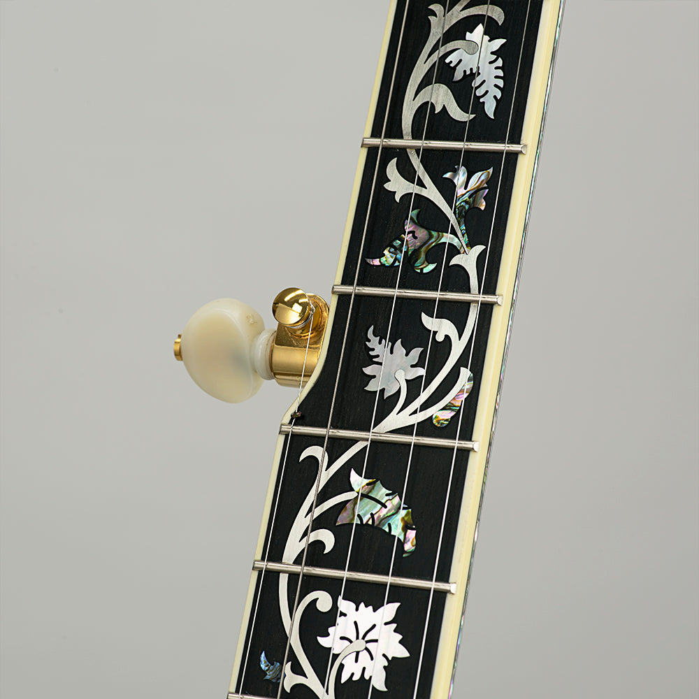 Deering Tree Of Life banjo - Neck Close