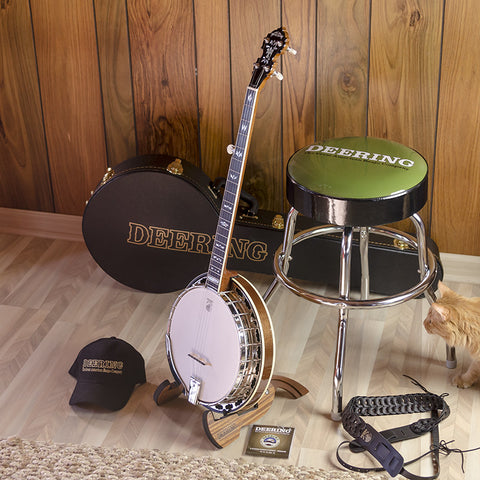 Deering Custom Legacy Banjo Package