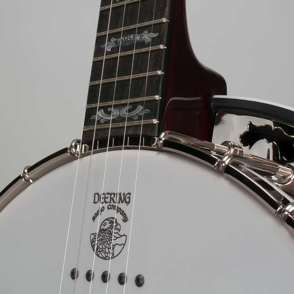 Deering Eagle II Acoustic/Electric 5-String Banjo - neck joint front
