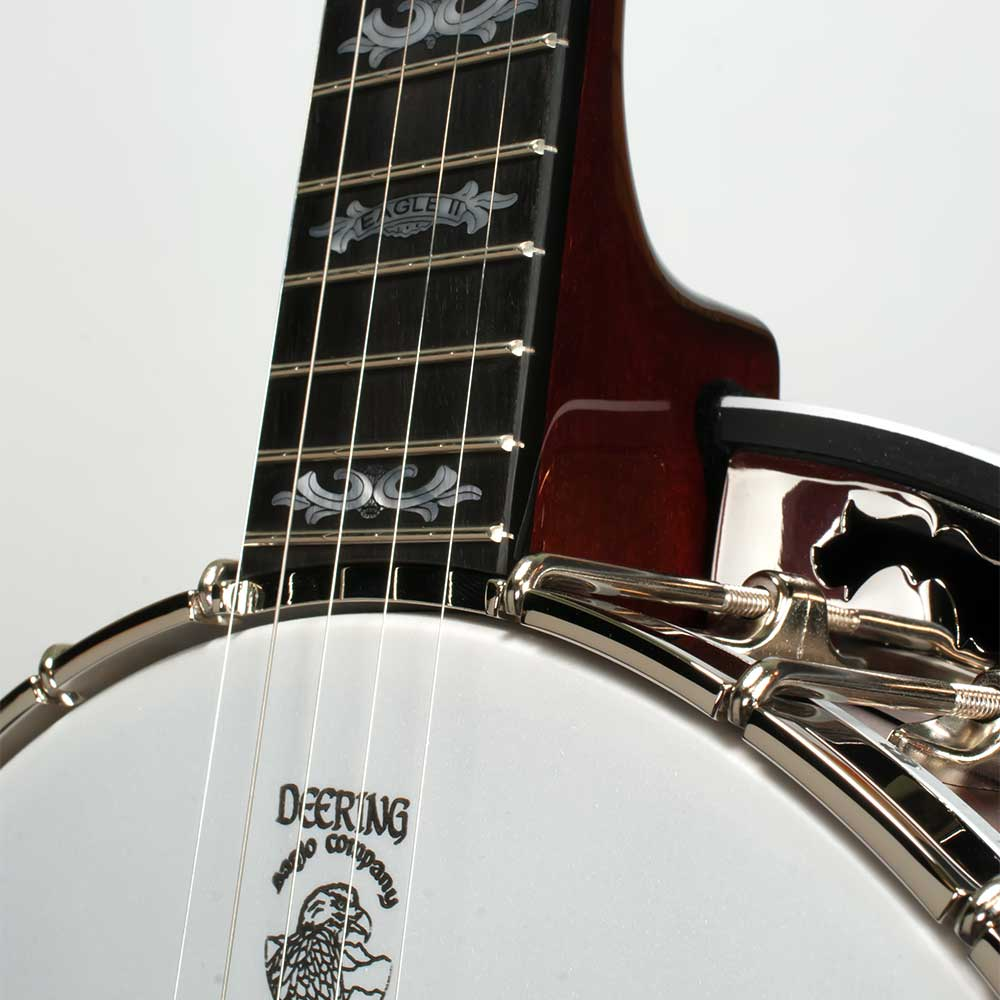 Deering Eagle II 5-String Banjo - neck joint front