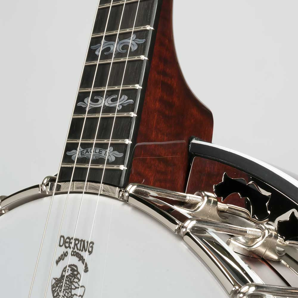 Deering Eagle II 19-Fret Tenor Banjo - neck joint front