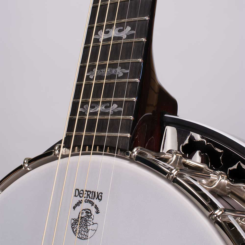 Deering Eagle II 6-String Banjo - neck joint front