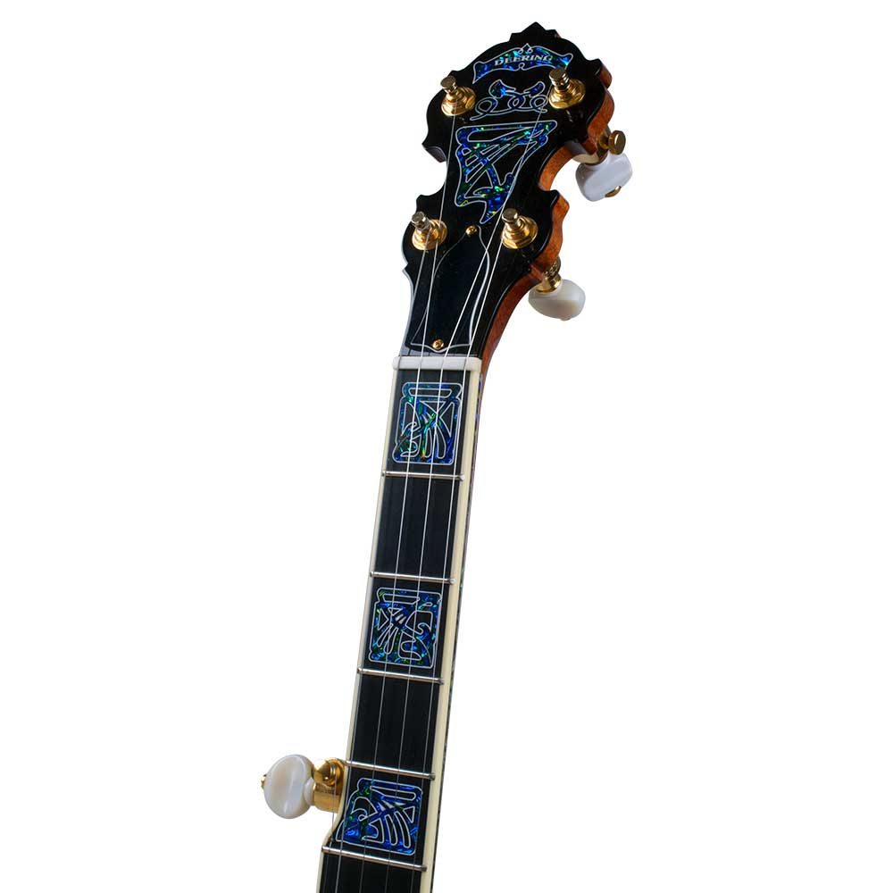 Tony Trischka Golden Clipper Banjo - peghead front