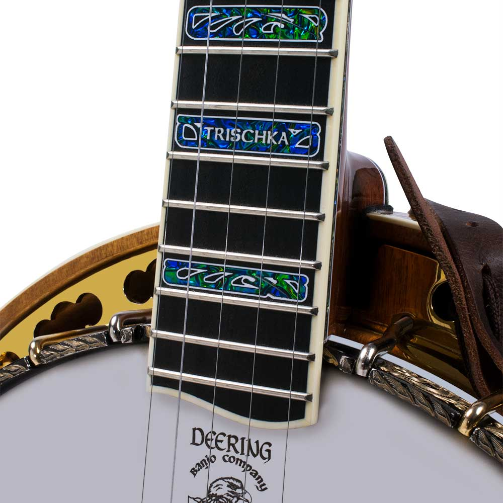 Tony Trischka Golden Clipper Banjo - neck joint front