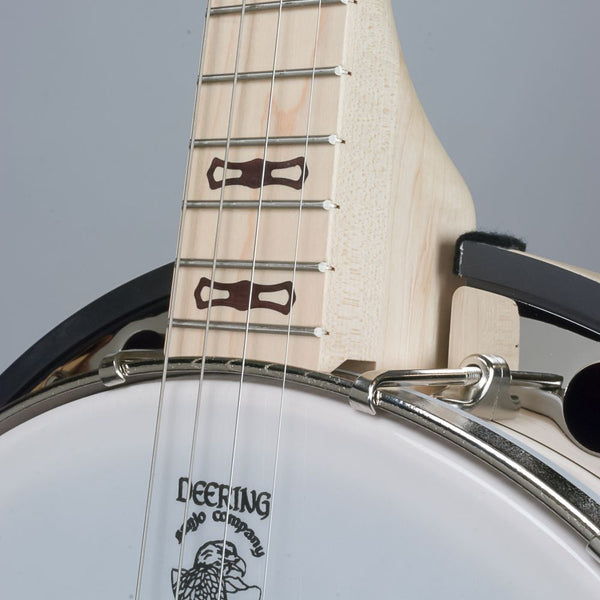 Deering Goodtime Two 17 fret tenor banjo - front - neck and pot