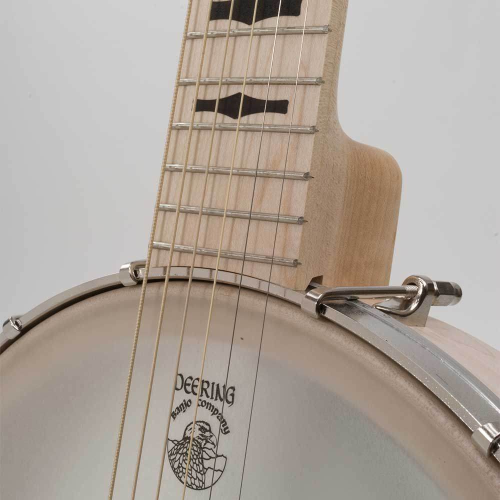 Goodtime Six Jumbo 6 String Banjo - neck joint front