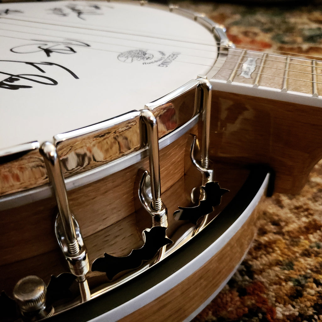 Deering White Lotus Banjo Auction- Signed by 2019 Blue Ridge Banjo Camp Instructors!